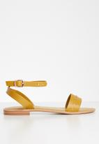 Vero Moda - Studded ankle strap sandal - yellow