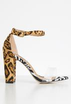 Madison® - Danica leopard/zebra print heel - multi