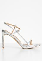 Madison® - Bexley ankle strap heel - silver