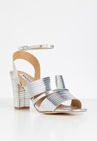 Madison® - Emerson metallic ankle strap heel - silver