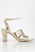Madison® - Emerson metallic ankle strap heel - gold