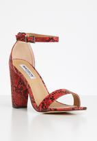 Madison® - Danica snakeskin heel - red & black