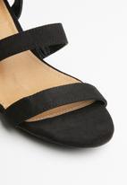 Madison® - Daphne ankle strap heel - black