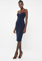 Sissy Boy - Cutting corners midi dress - navy