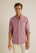 MANGO - Oxford shirt - pink