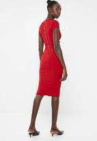 Sissy Boy - Girl boss ruched midi dress - red