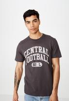 Cotton On - Tbar sport short sleeve tee - charcoal