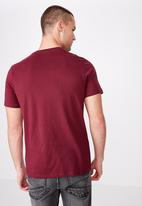 Cotton On - Tbar sport short sleeve tee - burgundy