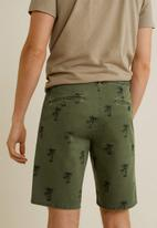 MANGO - Printed cotton bermuda shorts - khaki