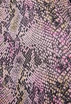 Superbalist - Printed strappy animal print jumpsuit - pink