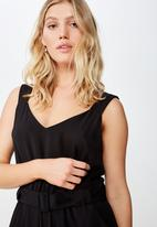 Cotton On - Woven Jillian strappy jumpsuit - black