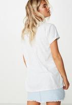 Cotton On - Classic slogan T-shirt NYC splice - grey