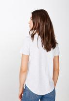 Cotton On - The crew T-shirt - grey