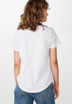 Cotton On - The deep v-neck tee - grey