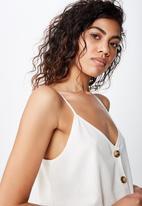 Cotton On - Allie button front cami - white