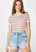 Cotton On - Tbar Remi graphic ringer tee - multi