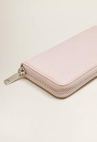 MANGO - Zip saffiano-effect purse - pink