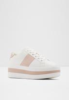 ALDO - Leather platform sneaker - pink