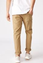 Cotton On - Tapered leg jeans - brown