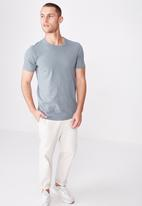 Cotton On - Essential longline curved hem tee - blue