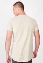 Cotton On - Essential longline curved hem tee - beige