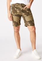 Cotton On - Straight leg shorts - khaki