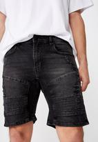 Cotton On - Straight leg shorts - black