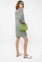 ONLY - Stripe tie sleeve dress - multi