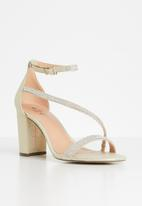 Call It Spring - Azaria ankle strap heel - gold