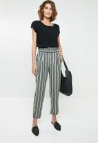 ONLY - Stripe ankle pant  - multi