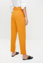 ONLY - Piper paperbag pants - orange