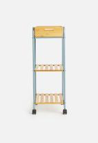 Storage Solutions - Bamboo trolley - natural