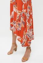 edit - Asymmetrical dress - print
