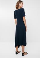 edit - Asymetrical dress - navy