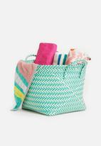 Sixth Floor - Plastic basket large - teal