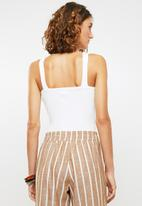 Me&B - Ribbed bodysuit - white