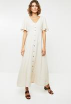 Me&B - Linen blend dress - beige
