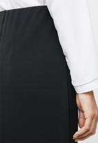 edit - Wrap detail pencil skirt - black