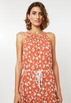 Me&B - Tiered dress - orange