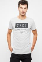 S.P.C.C. - Shadow stripe logo tee - grey