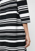 edit - Stripe tunic dress - black and white