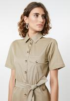 edit - Utility dress - khaki