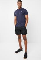 Asics - Silver short sleeve top - navy