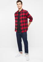 Levi's® - Classic worker gibbon crimson plaid - red & black