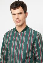 Jack & Jones - Sean stripe jacket - green & red