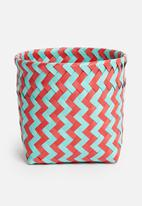 Sixth Floor - Plastic basket small - pink & blue