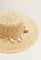 MANGO - Hat - beige