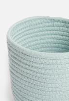 Sixth Floor - Cotton rope storage basket set of 2 - duck egg