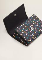MANGO - Flap saffiano-effect purse - black