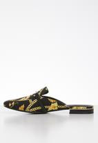 Call It Spring - Dacotaa floral print mule - black & yellow